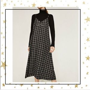 Zara cami Checkered Midi length cami dress (C7)